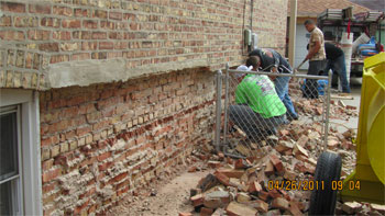 masonry contractors at work